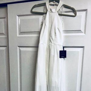 BNWT Lulu's white high low maxi dress!!! Gorgeous